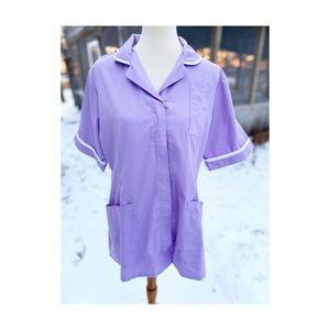 Scrub Top Shirt Lilac Medical Nursing Veterinary